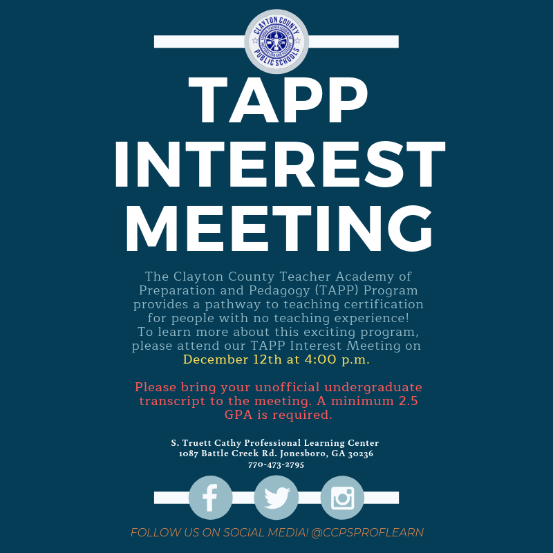 TAPP Interest Meeting December